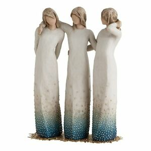 Willow-Tree-By-My-Side-Figurine-27368-Sisters-Girls-Cousins-in-Branded-Gift-Box