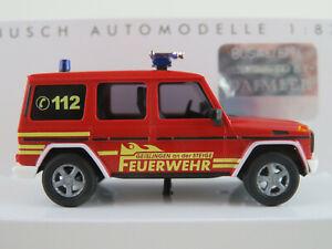 Busch-51424-MERCEDES-BENZ-G-Classe-1990-034-Pompiers-Geislingen-034-1-87-h0-Nouveau-Neuf-dans-sa