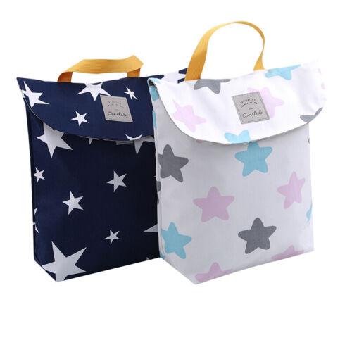 Portable Nappy Storage Bag Wet Dry Cloth Diaper Bags Print Travel Organizer Z