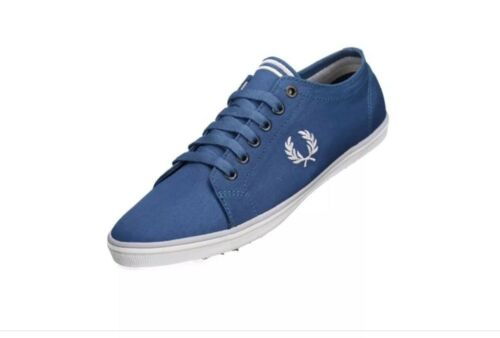 B6259u New Canvas Perry Fred f57 Brand Trainers Kingston Boxed Men's Twill Blue CRfwq1w