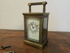 Antique French Enamel Bailey Banks Biddle Carriage Clock Ebay