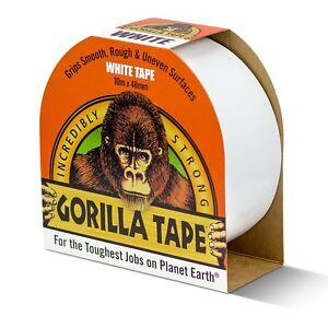 10m White Gorilla Tape - Ultra tough, White Adhesive Duct Tape Gaffer Tape