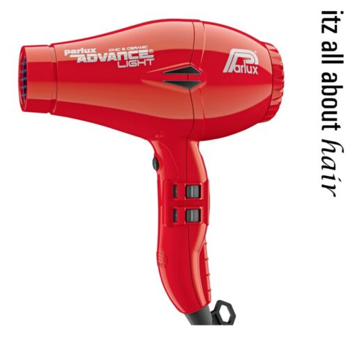 Parlux Advance Light Ceramic and Ionic Hair Dryer Red 2 year Warranty W460g