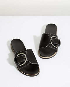 50% price 50% price outlet boutique Jigsaw Bacilly Buckle Sliders Womens New Black | eBay