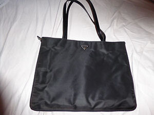 Image Is Loading Authentic Guranteed Prada Nylon Tote Bag Vintage Never