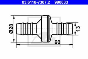 sotto pressione per parti standard ATE 03.6118-7307.2 VALVOLA