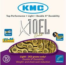 KMC X10EL Bike Chain Extra Light 10 Speed Cycle Chain Gold KMCX10ELG