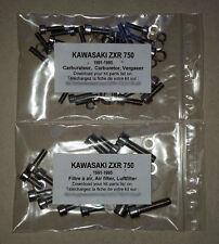 KAWASAKI ZXR 750 1989-1995 Carburetor stainless allen screw kit #1 ZX