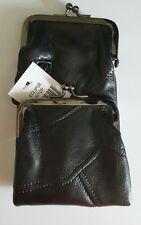 Eclipse Leather Black Patch 120's Cigarette Case Coin Purse Ultra Soft