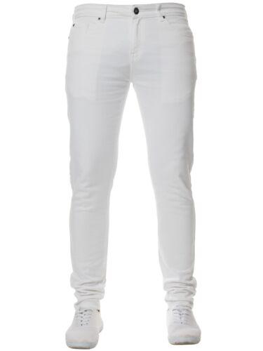 Da Uomo kruze Super Stretch Skinny Jeans Slim Fit Di Base Pantaloni Tutti Girovita /& Gamba Taglie