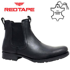 be4d02a0697 Red Tape Ashton Black Leather Mens Chelsea BOOTS UK UK 7 ...