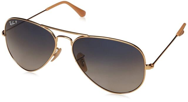 445dacfb72 ... wholesale ray ban aviator rb 3025 001 78 58mm gold gradient blue  polarized lens 9342d 0fbf2