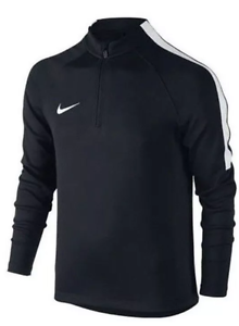 NWT NIKE YOUTH UNISEX SQUAD DRIL TOP 1/4 ZIP  #807245 BLACK  Msrp: $65