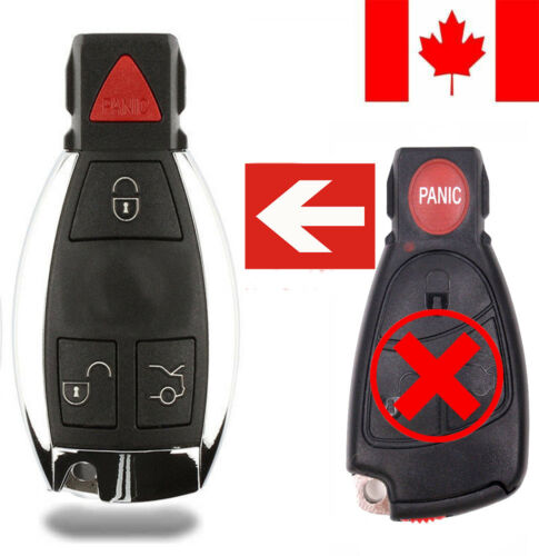1x New Replacement Remote Key Fob Button Pad For Mercedes Benz IYZ3312