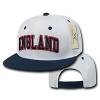 England UK Soccer Flat Bill Snapback Snap Fit World Cup Baseball Ball Hat Cap
