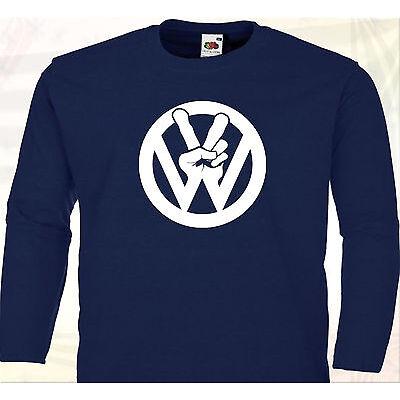 T-SHIRT MANCHES LONGUES - Fan VW Volkswagen Coccinelle Cox Combi Van Bus Split