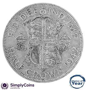 1937-To-1951-George-VI-argent-demi-couronnes-Choix-de-l-039-annee-date