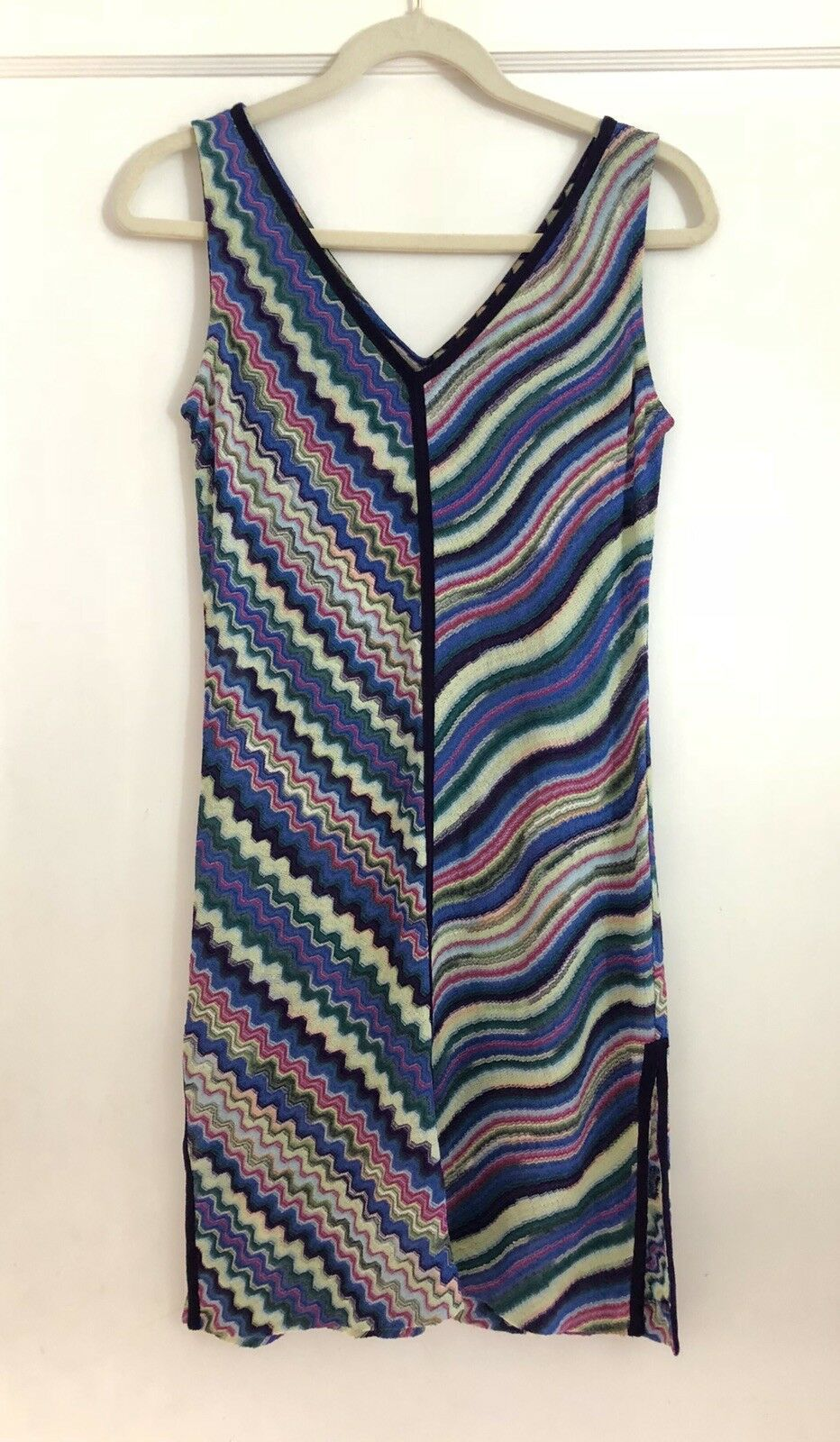 Vintage Missoni For Neiman Marcus Sleeveless Knit Dress Size 38 2 made In