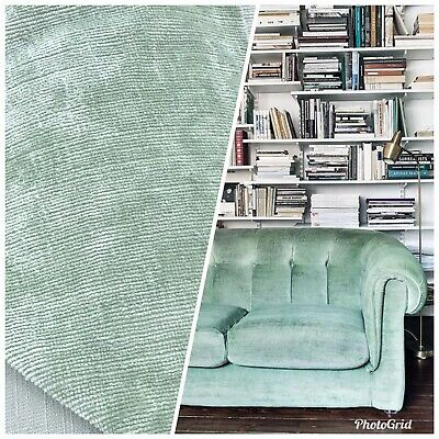 Antique Mint Green SWATCH Antique Inspired Velvet Fabric Upholstery Weight