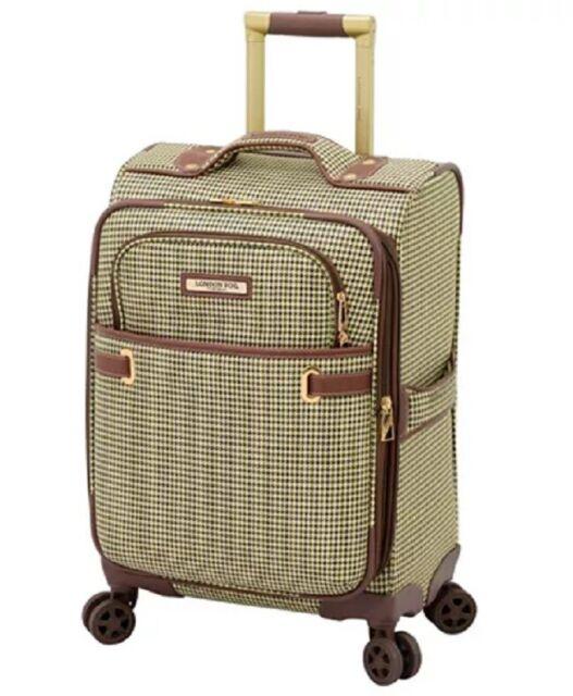 London Fog Retro 20 Hardside Spinner Trunk Carry On Suitcase Black 7394 For Sale Online Ebay