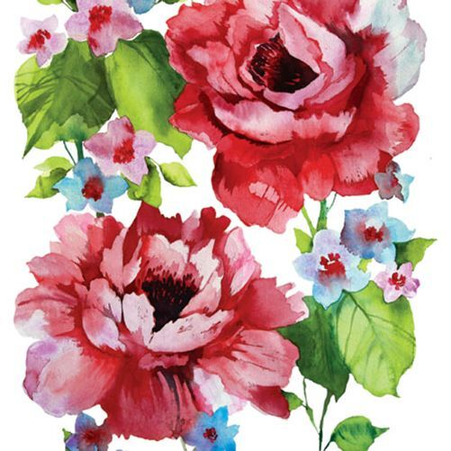 20 Paper Napkins WATERCOLOUR ROSES Decoration Decoupage Shabby Chic Vintage