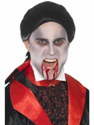 Fancy Dress Colonial Vamp Vampire Wig With Plated Back Adult Size 23038