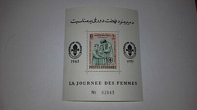 Energetic Afganistán Journee Des Femmes Women's Day Scout 1964 Minisheet 10a Stamps Stamp