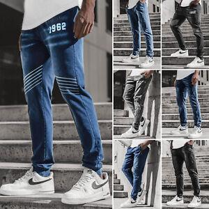 Jogger Trainingshose Freizeithose Jeans Fitness Classic Herren OZONEE 13073 MIX