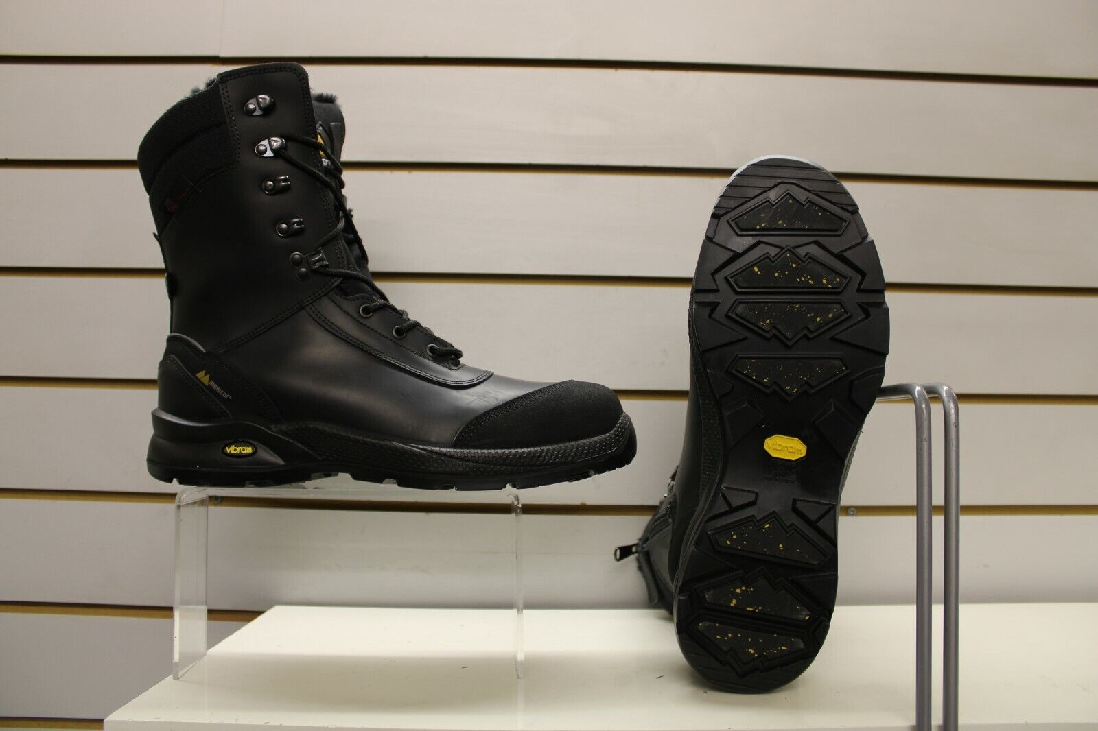 Monitor Icebreaker Arctic Black Side Zip Safety Boots UK 10.5 EU 45 Grisport