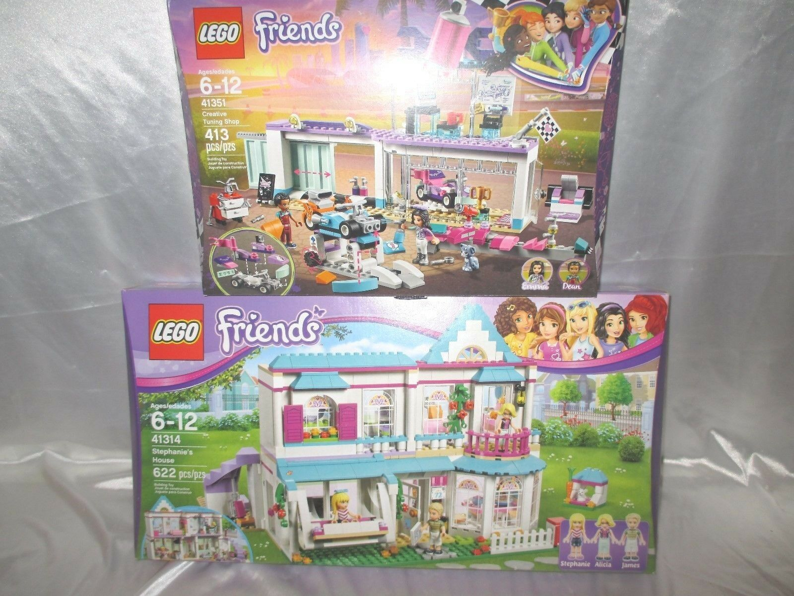 Lego Friends 41314 Stephanie's House & 41351 Creative Tuning Shop New Unopened