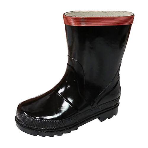 Tamarack City Toddler Youth Kids Black Rubber Waterproof Rainboots Boots