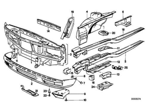 Original BMW 41111900695 Stützträger Radhaus vorne links 5er