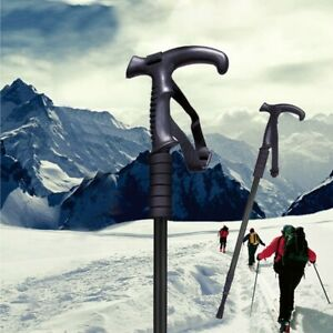 Pair-2-Trekking-Walking-Hiking-Sticks-Poles-Adjustable-Alpenstock-anti-shock