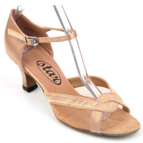 "sz5.5-9.5 167503 Flesh 2.2/"" Very Fine Quality Latin Rhythm Salsa Dance Shoes"