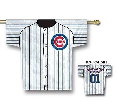 "Neu Chicago Cubs Trikot Haus Flagge 34 "" X 30 2-sided Too Cool Letzter Ones! Sport Fanartikel"