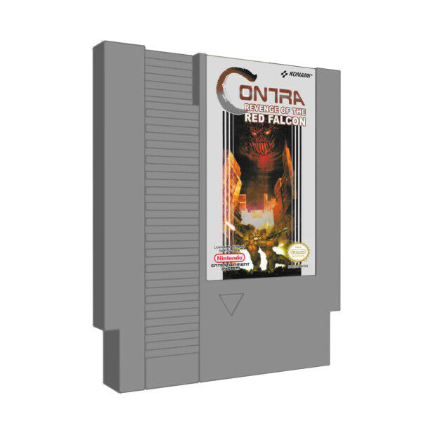 Contra Revenge of the Red Falcon Nintendo Entertainment System NES Game Cart