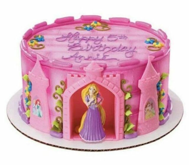 LITTLE DISNEY PRINCESS  SET OF 6 DECOSET CAKE TOPPER DECORATIONS