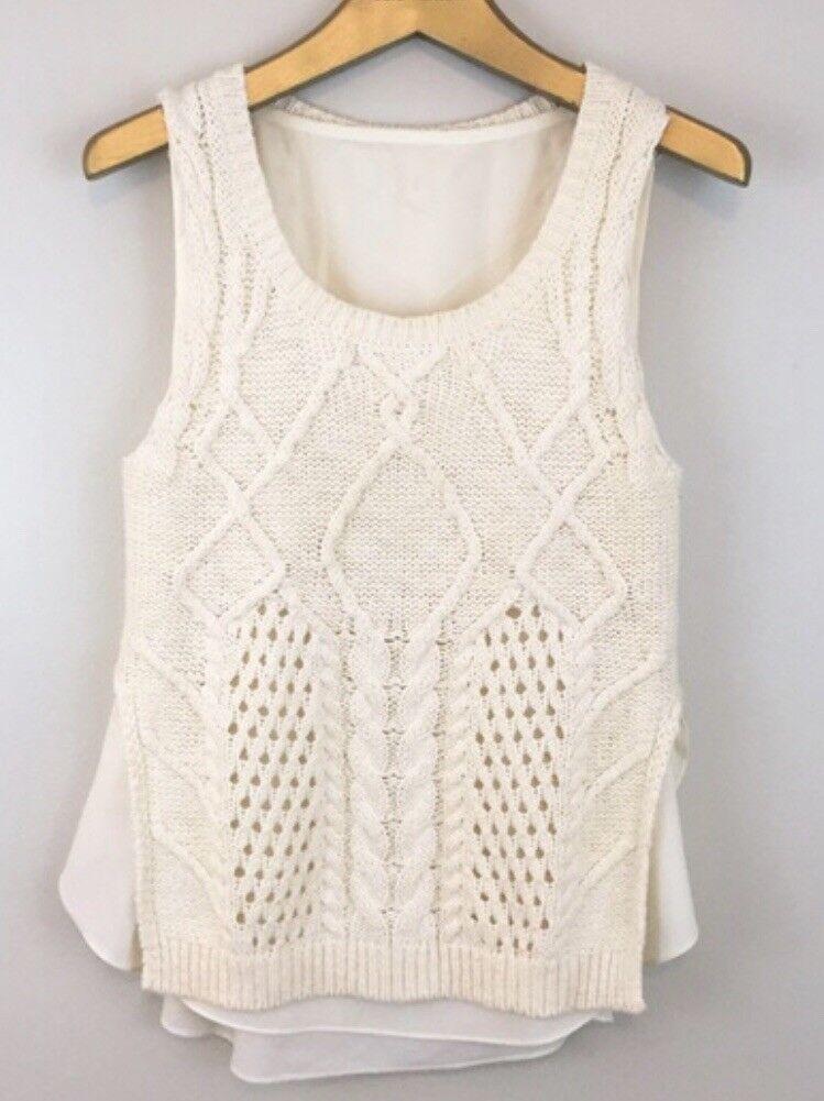 Brand NWT Anthropologie Moth Sleeveless Layered Sweater. Super Cute