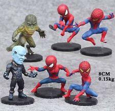 "Spiderman Set Of 6 Birthday Cake Topper Figurines Toy Set 2-1/2""-3-1/2"""