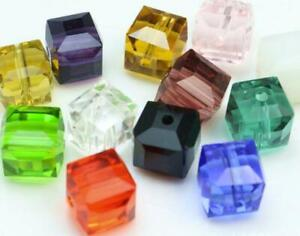 Cube 30 x Glass Beads 8mm Various Colours Available