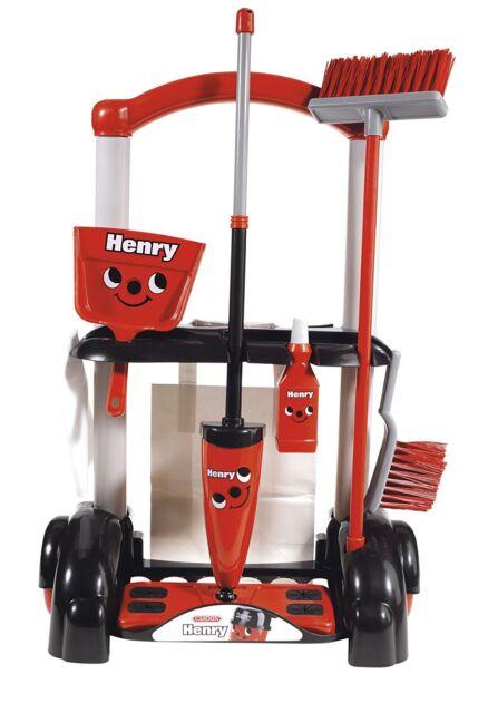Casdon Deluxe Henry Juguete para Niños Carro de Limpieza Parque Infantil &