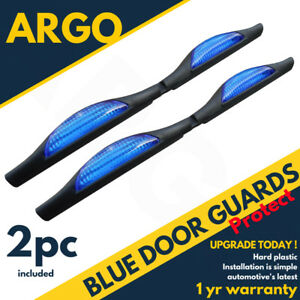 UNIVERSAL BLUE CAR DOOR DOOR EDGE GUARD SHIELD PROTECTORS REFLECTORS