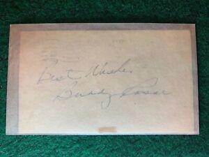 Buddy-Rosar-Autographed-1952-Government-Postcard-GPC-Index-Card-Guaranteed