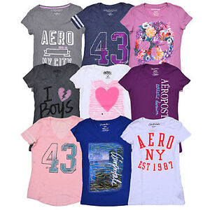 Aeropostale-Aero-Womens-Tee-Graphic-T-shirt-Short-Sleeve-Shirt-Top-New-Nwt