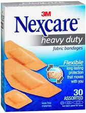 Nexcare Heavy Duty Flexible Fabric Bandages Assorted 30 Each (Pack of 2)