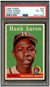 1958-Topps-Hank-Aaron-White-Letter-30-PSA-6-Centered-amp-High-End