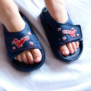 Navy-Blue-Pink-Girls-Summer-Holiday-Beach-Sandals-Shoes-6-5-7-7-5-8-5-Infant-UK