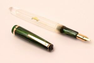 Green Airmail 69T Clear Acrylic Eyedropper Fountain Pen