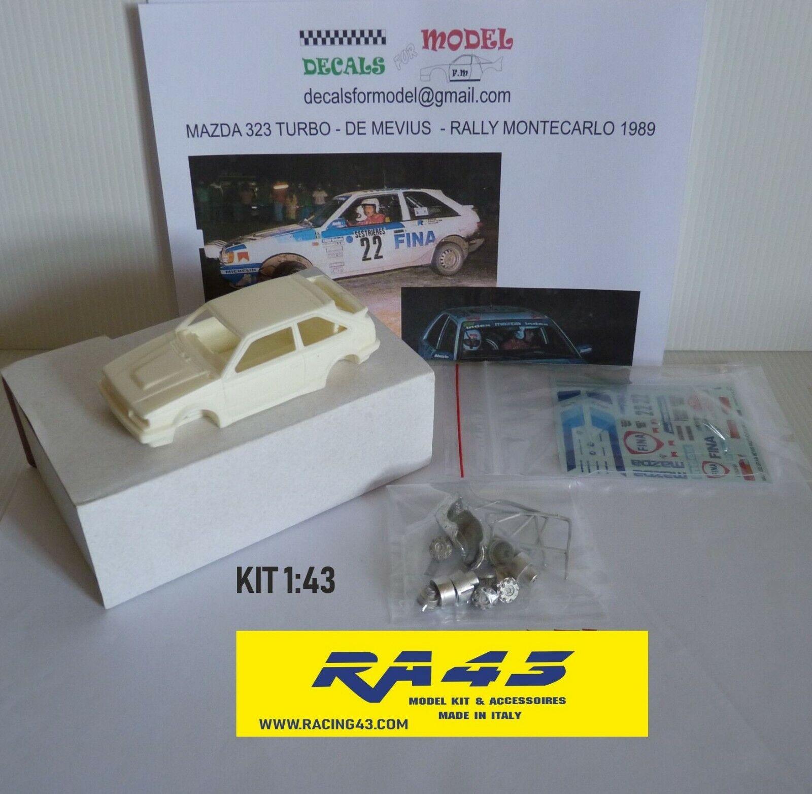 Hay más marcas de productos de alta calidad. 1 1 1 43 Mazda 323 Turbo Rally MonteCochelo 1988 Salonen Kit  oferta especial