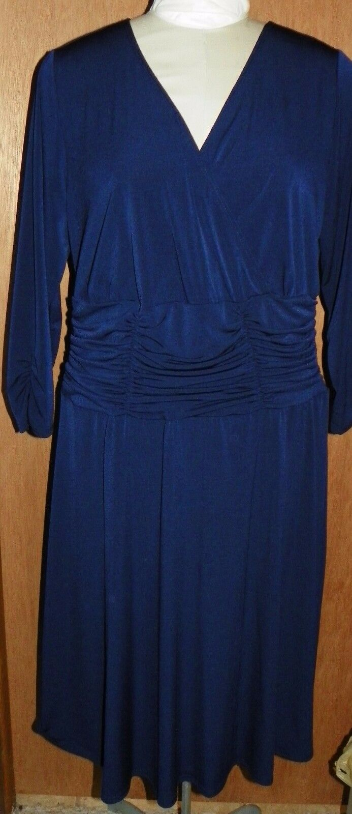 NY Collection Women's Navy bluee Knit Dress Plus Size 2X New w Tags  70 MSRP
